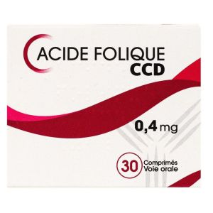 Acide Folique Ccd 0,4mg Cpr B/