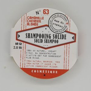Shampooing Solide à l'infusion de Camomille N°63 - 60g