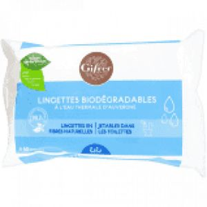 LINGETTES BIODEGRADABLES A L'EAU THERMALE x60